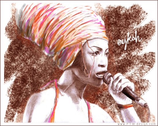 Erykah Badu por Camille